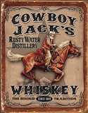 Cowboy Jacks Blechschild