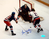 Bob Nystrom Shot on goal vs Rangers Photographie