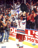 Adam Graves with Stanley Cup Overhead Autographed Photo (Hand Signed Collectable) Photo