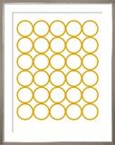 Yellow Circles Posters par  Avalisa