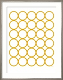 Yellow Circles Poster von  Avalisa