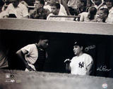 Yogi Berra w/ Elston Howard in Dugout B&amp;W (Signed by Regan) (MLB Auth) Photo