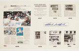 Frank Gifford &quot;Giants Rewrite History&quot; New York Times Photo