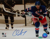 Chris Drury Sepia Tone Skating up Ice Autographed Photo (Hand Signed Collectable) Photo
