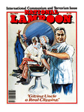 "National Lampoon, May 1979 - International Communism and Terrorism Issue, ""Giving Uncle a Real Clip Posters"