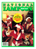 National Lampoon, December 1983 - Holiday Jeers! Have a Santa-Nista Party Posters