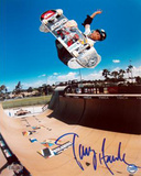 Tony Hawk - Skateboarding - Half Pipe Action in Blue Autographed Photo (Hand Signed Collectable) Foto