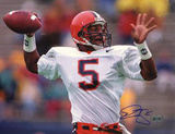 Donovan McNabb Syracuse Passing Close Up Autographed Photo (Hand Signed Collectable) Photographie