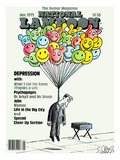 National Lampoon, January 1979 - Depression: Hanged with Happy Baloons Print