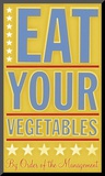 Eat Your Vegetables Mounted Print by John Golden