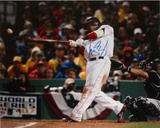Manny Ramirez 2007 World Series Swing Autographed Photo (Hand Signed Collectable) Photo