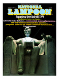 National Lampoon, April 1977 - Lincoln Statue, Ripping theLid off TV Posters