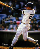 Don Mattingly NYY Home Jersey Swinging Vertical (MLB Auth) Photo
