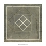 Geometric Blueprint V Art
