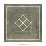 Geometric Blueprint V Giclee Print