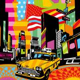 New York Taxi II Poster by  Lobo