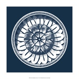 Classic Medallion on Navy IV Giclee Print