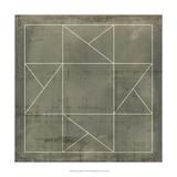 Geometric Blueprint II Giclee Print