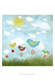 Bird Land Print by Ingrid Blixt