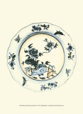 Blue and White Porcelain Plate VI Poster