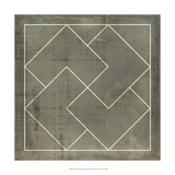 Geometric Blueprint III Giclee Print