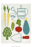 Sunday Garden Print by Chariklia Zarris