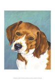Dog Portrait, Beagle Print by Jill Sands
