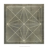 Geometric Blueprint I Print