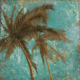 Palm on Turquoise II Prints by Patricia Quintero-Pinto