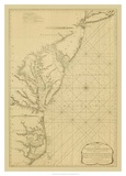 Coastal Chart of the East Coast Prints by Captain N. Holland