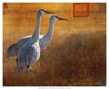 Walking Cranes Plakaty autor Chris Vest