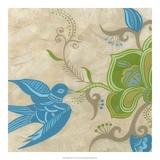 Songbird Fresco I Giclee Print by Erica J. Vess
