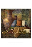 Cheese and Grapes I Prints by Janet Stever