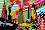 New York Taxi I Poster by  Lobo