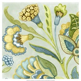 Decorative Golden Bloom I Print by Sydney Wright