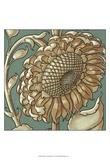 Sunflower Woodblock II Prints