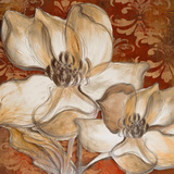 Whispering Magnolia on Red I Prints by Lanie Loreth