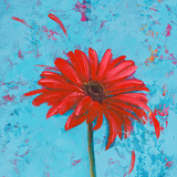 Blue Tiny Flower Square I Prints by Patricia Quintero-Pinto