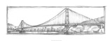 Golden Gate Bridge Sketch Limited Edition by Ethan Harper