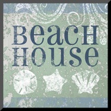 Beach Sign I Mounted Print
