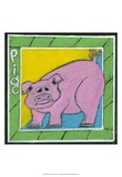 Whimsical Pig Posters