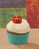 Cherry Cupcake I Prints by Vivien Rhyan