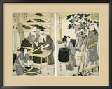 Silk-Worm Culture by Women Framed Giclee Print by Utamaro Kitagawa