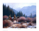 Warriors In The Willows Prints by Martin Grelle