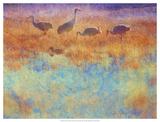 Cranes in Soft Mist Plakaty autor Chris Vest