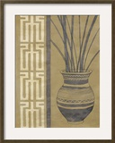 Tribal Vase Framed Giclee Print by Dominique Gaudin