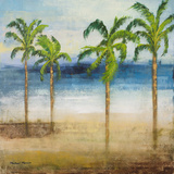 Ocean Palms I Prints by Michael Marcon