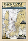 Newport, Rhode Island Nautical Chart Prints