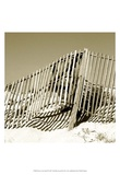 Fences in the Sand II Print by Noah Bay