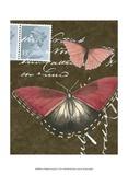 Le Papillon Script II Print